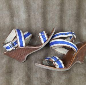 Michael Kors wedge sandals wooden heel summer